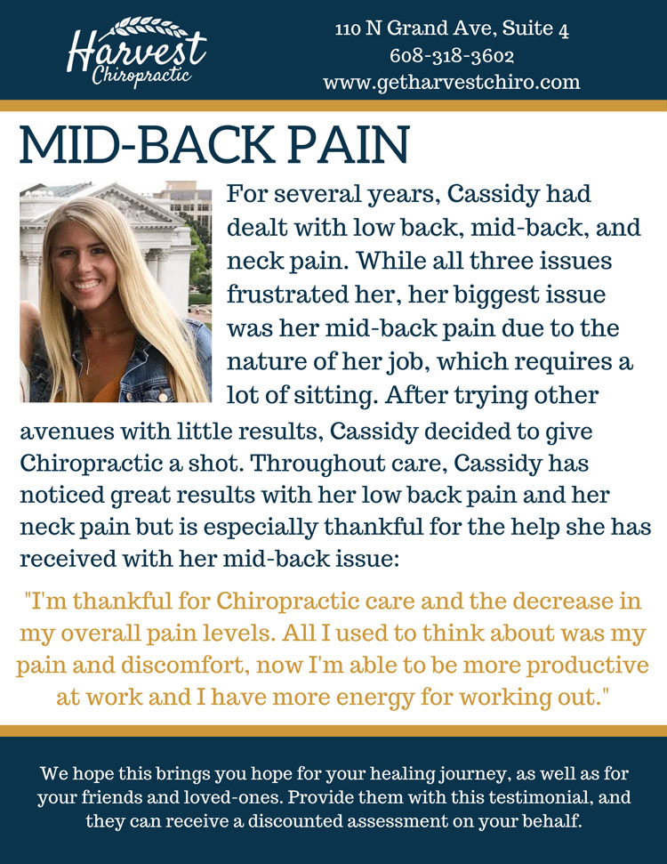 Chiropractic Sun Prairie WI Patient Testimonial at Harvest Chiropractic